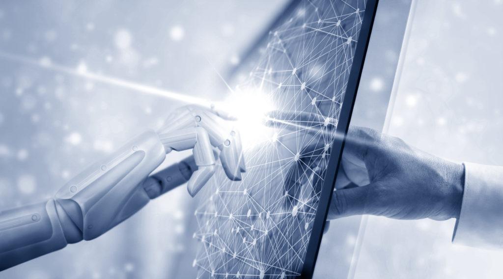 Redmark robotics hænder gennem skærm